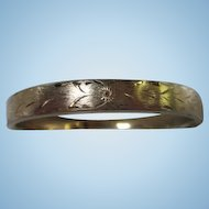 Napier Hand etched Florentine gold filled Vintage Bangle Bracelet