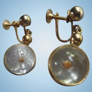 Mustard Seed Globe Vintage Hanging Earrings
