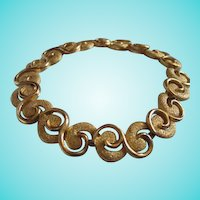 Trifari Modernist  Swirled Textured Bracelet MINT
