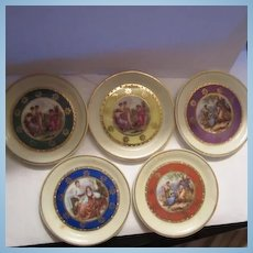 Romantic Antique Scenes Vintage Germany Small Plates