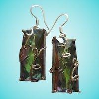 Stunning Swarovski Rainbow Crystals  Sterling Silver 925 Earrings