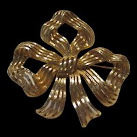 Gorgeous Huge Signed Statement Bow Monet Vintage Brooch Pin