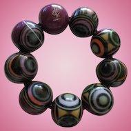 Carlos Sobral of Brazil Vibrant Abstract Statement Bracelet Signed