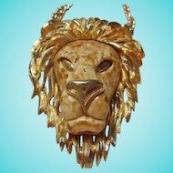 Razza Signed Huge Lion Statement Runway Vintage Necklace