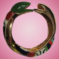 Rare Niki de Saint Phalle Enamel Artistic Gaudi Vintage Snake Serpent Bracelet