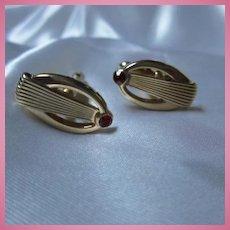 Art Deco Oval  Signed Swank Vintage Cufflinks
