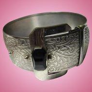 Fabulous Art Deco Wide Buckle Statement Bracelet