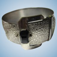 Fabulous Art Deco Wide Buckle Statement Bracelet