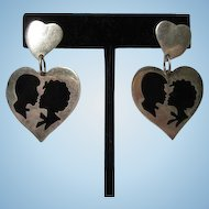 Fabulous Taxco Signed Silhouette Sterling Silver Vintage Post Earrings