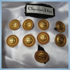 Authentic Christian Dior CD One Inch  Buttons Original Label