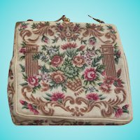 Stunning Hand Made Floral Petitipoint Evening Bag