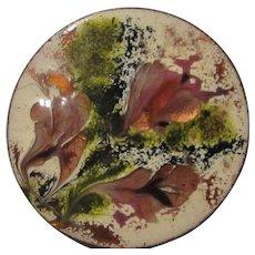 Splash of Colors Artist Hand Made Huge Modernist Abstract Enamel Copper Vintage Brooch Pin 1950s