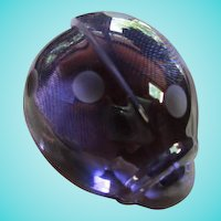 Baccarat Crystal Amethyst Ladybug  Rare Figural Paperweight Signed