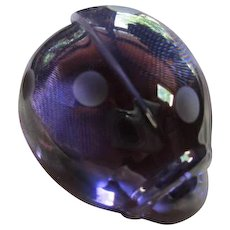 Baccarat Crystal Coccinelle Amethyst Ladybug  Rare Figural Paperweight Vintage Decor Signed
