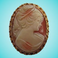 Lovely Classic  Cameo Vintage Brooch Pin