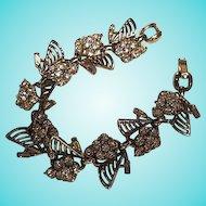 Stunning Art Deco Sparkling Crystal Rhinestones Detailed Quality Bracelet