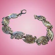 Art Deco Sterling Silver Marcasite Vintage Bracelet
