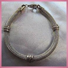 Lovely Sterling Silver Mesh Vintage Bracelet Maiden Size