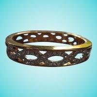 Sparkling Austrian Crystal Rhinestone Gold plated Vintage Bangle Bracelet