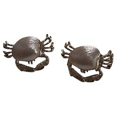 Fabulous Signed Set Whimsical Crab Figural Vintage Brooch Pins