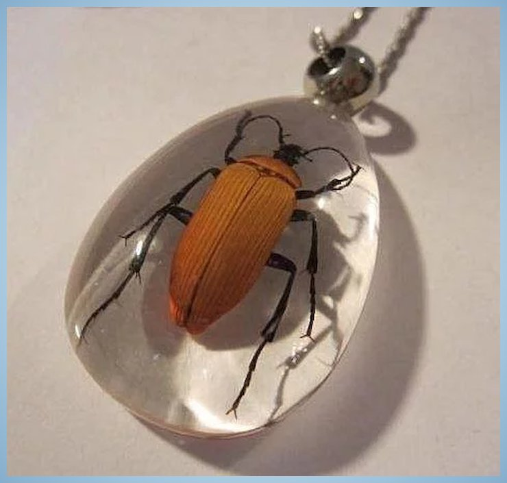 Amazing real insect bug thick lucite teardrop vintage pendant amazing real insect bug thick lucite teardrop vintage pendant necklace aloadofball Choice Image
