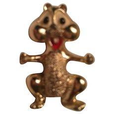 Signed Gerrys Alvin Chipmunk Two Figural Vintage Brooch Scatter Pins