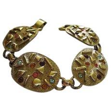 Sarah Coventry Sultana Mid Century Jeweled Vintage Bracelet