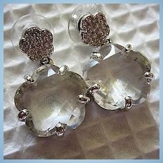 Stunning Swarovski Signed Crystal Special Occasion Vintage Post Earrings