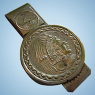 Indian Head Alpaca Money Clip Vintage Mexico