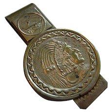 Indian Head Alpaca Money Clip Vintage Mexico