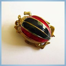 Enamel Gold plated Blue Green Red Enamel Bug Pin
