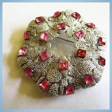 Signed Crown Trifari Modernist Amazing Rare Brooch Pin