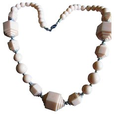Art Deco Celluloid Geometric Necklace