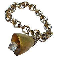 Napier 'Wedding Bells' Vintage Charm Bracelet Book Piece
