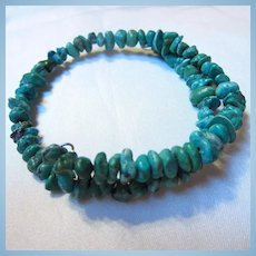 Genuine Turquoise Nuggets 1960s Bracelet