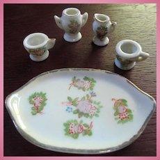 Occupied Japan Doll House Small Tea Set Tray Cups Sugar Creamer
