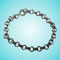 Lovely Art Deco Sterling Silver Starter Charm Bracelet