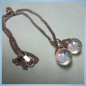 Rare Double Floating Opals Art Deco Necklace