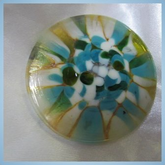 Hand Blown Glass Modernist Brooch