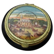 Rare Roadside American Vintage Souvenir Powder Compact