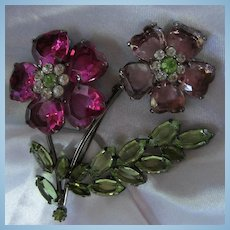 Beautiful Huge Double Flower Brooch
