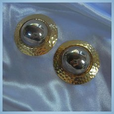 Norma Jean 1980s Fab Statement Earrings Signed