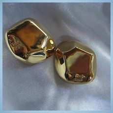 Givenchy Haute Couture Modernist Clip Earrings
