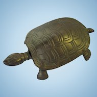Brass Turtle Hinged Figural Box