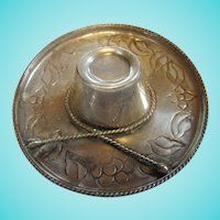 Chile Signed 900 Silver Sombrero Hat Trinket Tray