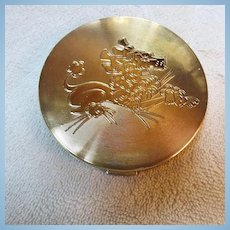 Elgin American Art Deco Stylized Poodle Vanity Powder Compact