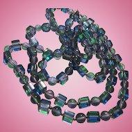 Fabulous Modernist Lucite Opera Length Necklace