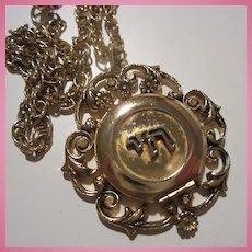 Beautiful Chai Enamel Ornate Locket Pendant Necklace