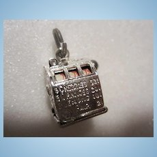 Vintage Slot Machine Sterling Silver Charm