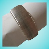 Signed Italy Splendor Sterling Silver Wide Modernist Cuff Bracelet
